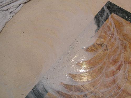 Тестируем белый алмазный пад Twister Твистер на мраморном полу очистка мрамора полировка мрамора однодисковая машина полотер пады пэды падодержатель