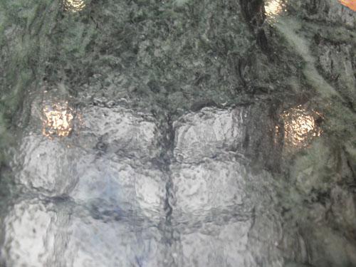 После полировки без Гибрида (Твистер система) на зеленом мраморе так же проявился эффект апельсиновой корки