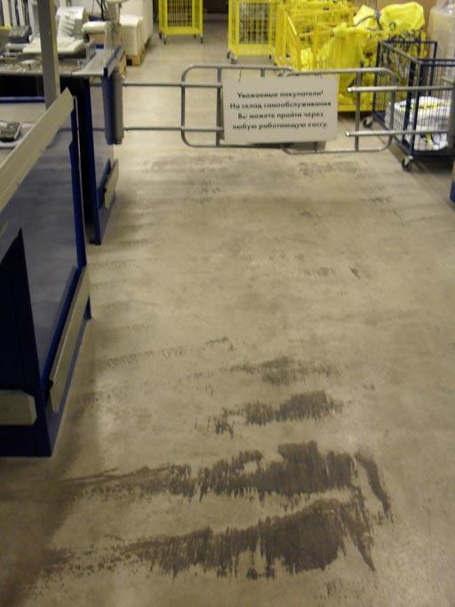 Очистка шлифовка и полировка бетонного пола алмазными падами Твистер