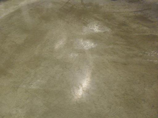 Очистка бетонного пола результат после желтого пада Твистер