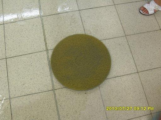Желтый пад Твистер работаем по бетонным полам
